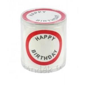 Sebességkorlátozó Wc papír happy birthday felirattal