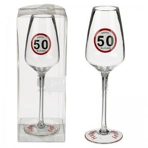 Sebességkorlátozó 50 -es pezsgős pohár