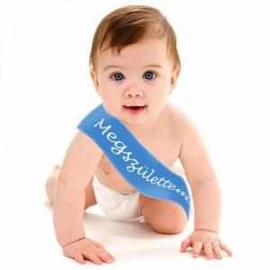 Megszülettem vállszalag kisfiúnak