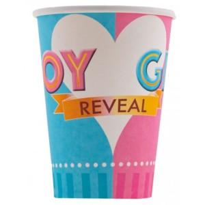 BOY OR GIRL, papír pohár, 2,7dl, 8 db/cs