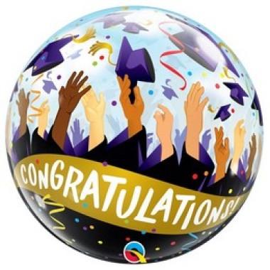22 inch-es Gratulálok - Congratulations Grad Caps Bubble Lufi Ballagásra