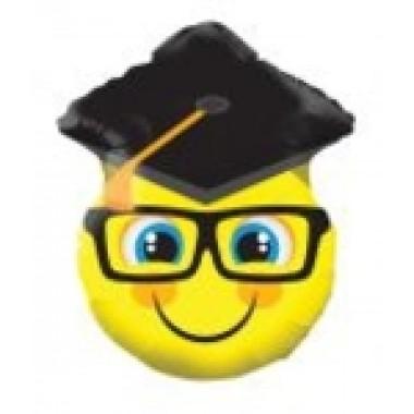 45 cm-es ballagási smile fej szemüveges