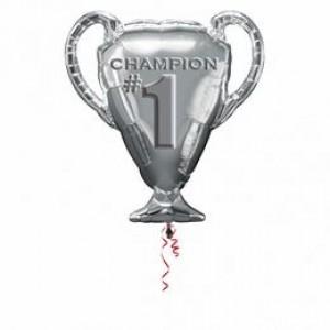 Első helyezett bajnoki kupa fóliás lufi