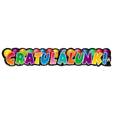 Ballagásra Gratulálunk felirat