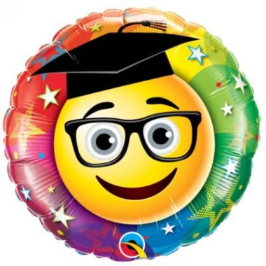 18 inch-es Smiley Graduate - Gratulálunk Ballagási Fólia Léggömb