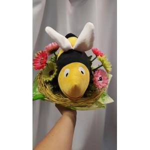 Virágcsokor méhecskével