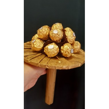 Virágcsokor Ferrero Rocher-val
