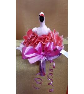 Virágcsokor flamingóval