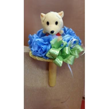 Virágcsokor  maci plüssel