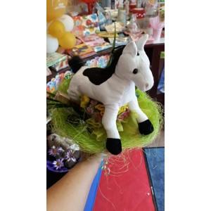 Ballagási csokor Fehér lóval