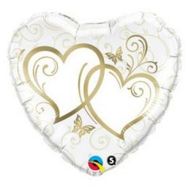 36 inch-es  Gold Esküvői Szív Fólia Lufi
