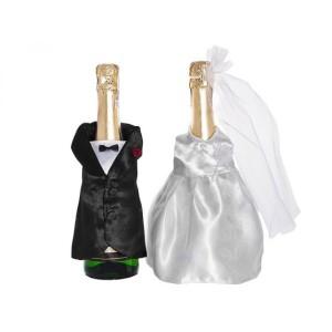 Esküvői ruha palackozott italra