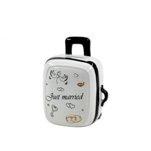 Persely bőrönd esküvőre