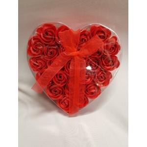 """Szappan rózsa """"szív"""""""