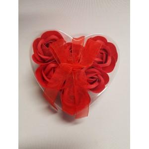 Szappan rózsa szív 6db-os