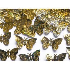 Konfetti arany pillangós