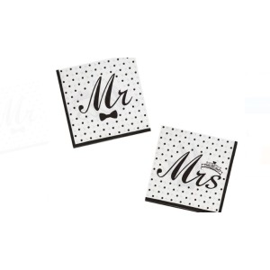 Mr and Mrs party szalvéta
