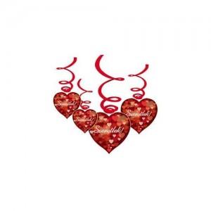 Szerelmes függődekoráció Szeretlek felirattal