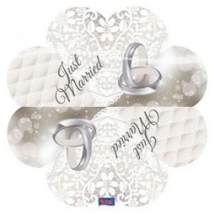 Szív alakú esküvői szalvéta