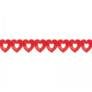 Girland papír szív