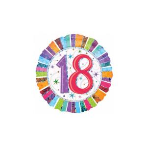 18 inch-es Radiant Birthday 18-as Születésnapi Fólia Lufi