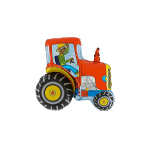 SuperShape - Traktor piros fólia lufi