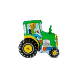 SuperShape - Traktor zöld fólia lufi