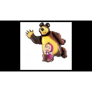 Mása és a medve fóliás lufi