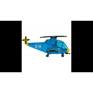 SuperShape - Helikopter kék fólia lufi
