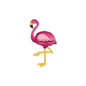 Sétáló Flamingó figura fólia lufi