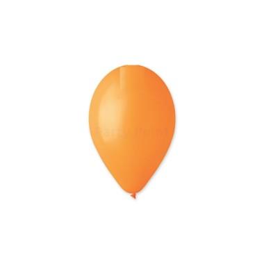 12 inch-es narancssárga gumi léggömb