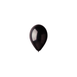 12 inch-es fekete gumi léggömb