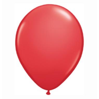 16 inch-es Red (Standard) Kerek Lufi