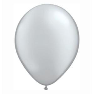 16 inch-es Silver (Metallic) Kerek Lufi