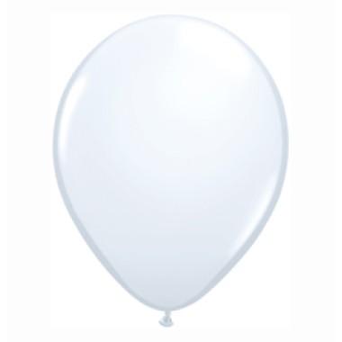 16 inch-es White (Standard) Kerek Lufi