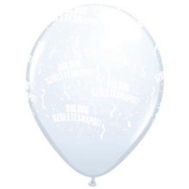 11 inch-es Boldog Születésnapot White Lufi