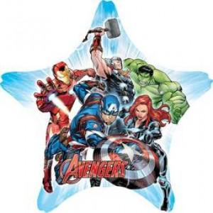 Bosszúállók - Avengers Csillag Alakú Jumbo Fólia Lufi