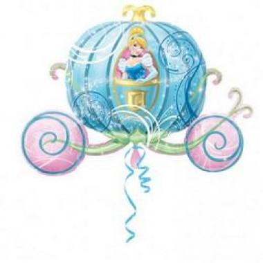 33 inch-es Cinderella Hamupipőke Hercegnő Carriage Super Shape Fólia Lufi