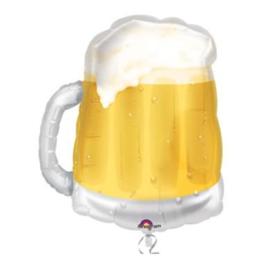 Sörös korsó- Beer Mug Super Shape Fólia Léggömb