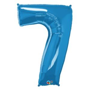 1 méteres kék fóliás 7-es számú lufi