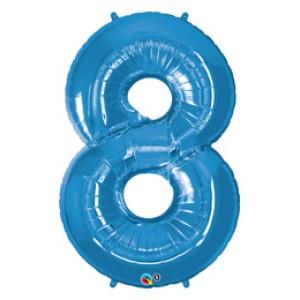 1 méteres kék fóliás 8-as számú lufi