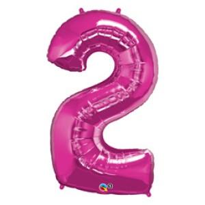 1 méteres pink fóliás 2-es számú lufi