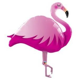 46 inch-es Pink Flamingó Super Shape Fólia Lufi