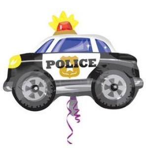 Rendőr Autó - Kocsi Fólia Léggömb