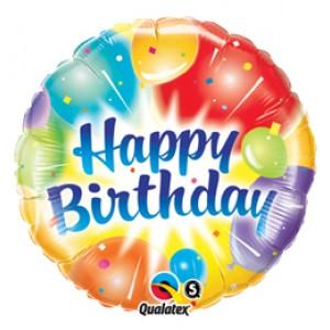 18 inch-es Lufik - Birthday Balloons Ablaze Blue Szülinapi Fólia Lufi