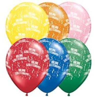 11 inch-es Boldog Születésnapot Standard Lufi
