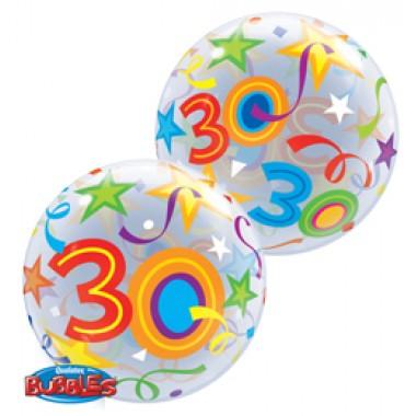 22 inch-es 30. Szülinapi Számos Bubble Lufi