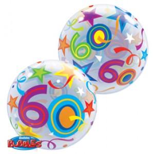 22 inch-es 60 Brilliant Stars Szülinapi Számos Bubble Lufi