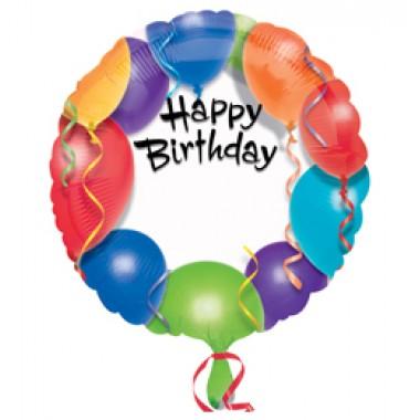 18 inch-es Happy Birthday - Szülinapi Feliratozható Fólia Lufi