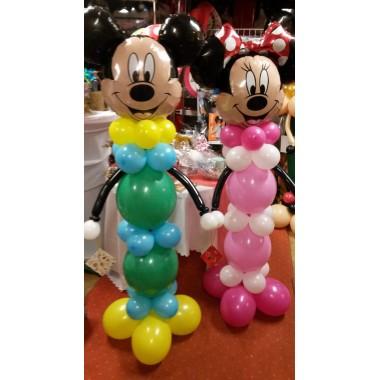 Mickey ,Minnie álló figura oszlop
